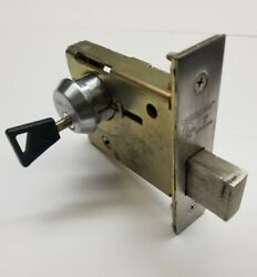 Abloy Disklock Mortise Cylinder With Sargent Mortise Lock Comes With 1 Key