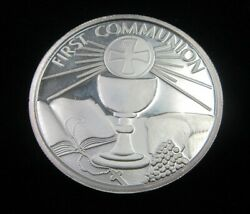 First Communion Coin/gift 1 Oz Fine 999 Silver Coin Lot097