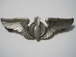Ww2 Us Army Air Corp Bombardier Wings 3 Inch Sterling