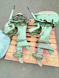 {2}lot Vintage Johnson Seahorse 25hp Outboard Motor Rd-12 And Rdl-16 +cover Parts