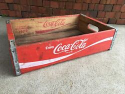 Vintage Wooden Soda Crate Coca-cola Wood Box Coke Chattanooga Tennessee 1979