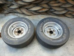 2 Vintage Bias Tires 15 Inch With Wheels No Shipping