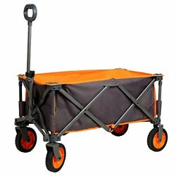 Portal Collapsible Folding Utility Wagon Quad Outdoor Rolling Camping Cart, Grey