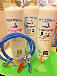 Refrigerant R12 28 Oz. Cans Three With Leak Stop And Pro Seal Xl4 Taper Hose
