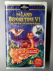 The Land Before Time Vi The Secret Of Saurus Rockclamshell Vhs New Sealed