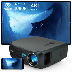 Caiwei Native 1080p Wifi Projector 4k Android 6.0 Blue Tooth Video 200in Screen