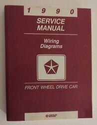 1990 Chrysler Front Wheel Drive Wiring Diagrams Service Manual - Must See