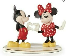 Lenox Disney Mickey And Minnie Mouse Figurine Two Hearts As One Valentine New