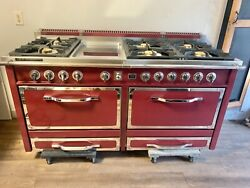 Viking Tuscany Series 66 Inch Dual Fuel Range In Bordeaux Red Colorandnbsp