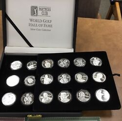 Pga World Golf Hall Of Fame Silver Rounds Collection 24 Coins .999 Fine Silver