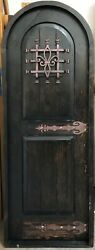 Rustic Reclaimed Lumber Arched Door Solid Wood Storybook Castle Wine Pre Hung