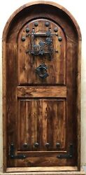 Rustic Reclaimed Solid Lumber Arched Doug Fir Old Growth Door Winery Castle