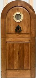 Rustic Spanish Reclaimed Lumber Arched Top Dutch Door Solid Wood Storybook