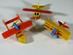 Rare Vintage Bruder Mini Toy Airplanes Fokker Piper Lot West Germany B5413