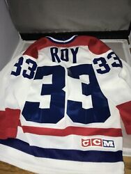 Vintage Patrick Roy Montreal Canadiens Youth Ccm Jersey Size P/s