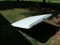 Covermaster Truck Bed Cover, White Fiberglass Hard Top, Carpeted