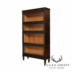 Macey 1920's Vintage Mahogany 4 Stack Barrister Bookcase