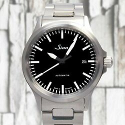 Sinn 556 Automatic Stainless Steel On Bracelet Black Dial Menand039s Watch 38.5mm