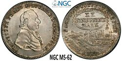 🔥 Ngc Bamberg 1800 Ms 62 1/2 Thaler Silver City View Coin Germany Very Rare