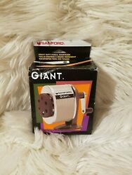 Vintage Sanford Giant Pencil Sharpener New 6-hole Wall Or Table Mounted 51131