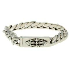 Chrome Hearts/chrome Hearts Size 20link Id Bby Flrl Crs/baby Floral Cross Silver
