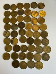 1934 Delaware River Joint Toll Bridge Commission Pennsylvania New Jersey Tokens