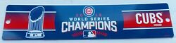 2016 Chicago Cubs Baseball -- World Series Champions -- Street Sign