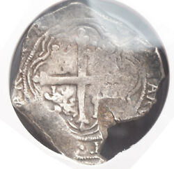 1621 Mexico Philip Iv. Spanish Colonial Silver 8 Reales Cob Coin. Ngc Vf-25