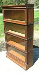 Antique 1910 Oak Hale 6 Piece Barrister Stacking Lawyerand039s Sectional Bookcase
