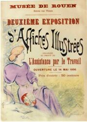 Original Vintage Poster Illustrated Posters Expo Rouen 1896