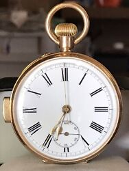 Antique 14k Solid-gold Quarter Repeater Manual-wind Pocket Watch
