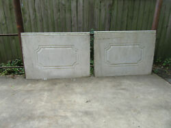 2 Pieces 10 + Feet Antique Carved Marble Paneling Wainscoting Salvage