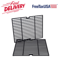 """Cast Iron Cooking Grill Grates Grid 2-pack 16 1/5"""" For Kenmore 146.10016510 Bbq"""