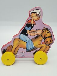 Fisher Price Toy Town Toyfest 1999 King Features Syndicate Popeye Wood Toy