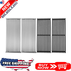 Cast Iron Cooking Grates Grid And Emitters 4-pack Replacement Kit For Charbroil