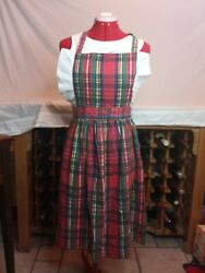 Vintage Full Kitchen Apron Christmas 40 In Made In Usa By The Ilgwu