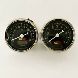 Hot Rod 3 3/8 Dia Electric Speedometer 140mph And Tachometer - Socal Speed Shop