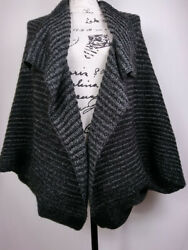 Verloop Womens Cardigan Size Small Gray Knit Opent Front Relaxed Fit Casual