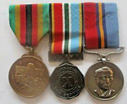 3 Medals To Sergeant Sibanda, British South Africa Police - Rhodesia And Zimbabwe