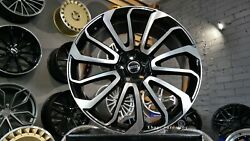 New 4x 24 Inch 5x120 Black Wheels For Land Rover Discovery Defender Range Sport