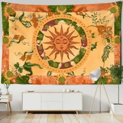 WITCHCRAFT BURNING SUN TAPESTRY MYSTERIOUS WALL HANGING HIPPIE BOHEMIAN TAPESTRY