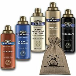 Ghirardelli Coffee Syrup Variety Pack - 5 Flavors, Ice Cream Toppings, Caramel