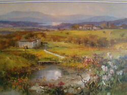 Oil Painting On Canvas Signed Raffandrandegrave