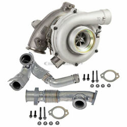 Turbo Turbocharger W/ Up Pipes For Ford F250 E350 Super Duty Excursion 6.0l