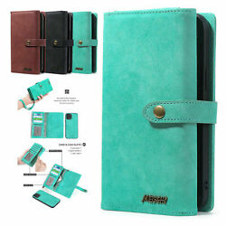 Removable Leather Zipper Card Slot Wallet Case Cove Fr iPhone 13 Pro Max 13 Mini