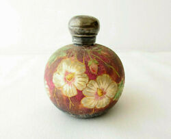 Antique Victorian Saunders And Shepherd Sterling And Ceramic Scent/perfume Bottle