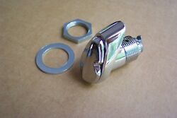 1955 1956 Ford New Chrome Trunk Lock Sleeve W/flap 55 56 Also 1957 T-bird 57