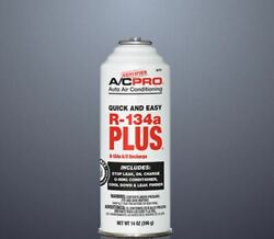New Certified Ac Pro R-134a Plus Recharge Stop/find Leak Oil Charge 14 Oz
