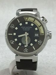 Louis Vuitton Tambool Diving 300m Automatic Watch Analog Rubber Blk 2021 03