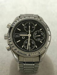 Omega Speed master Date Day Date · Ss Analog Stainless Black Silver